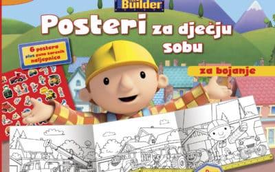 Bob Graditelj bojanka – posteri za dječju sobu