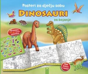 dinosauri posteri bojanka